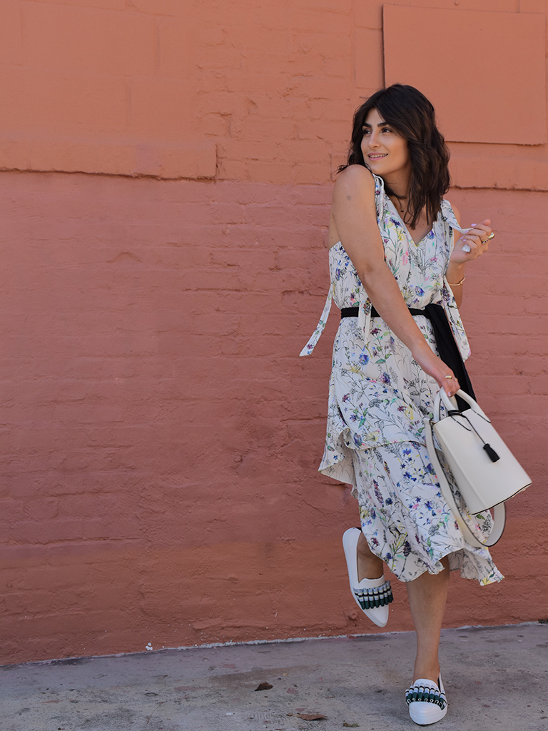Spring Dress With The Cutest Sneakers